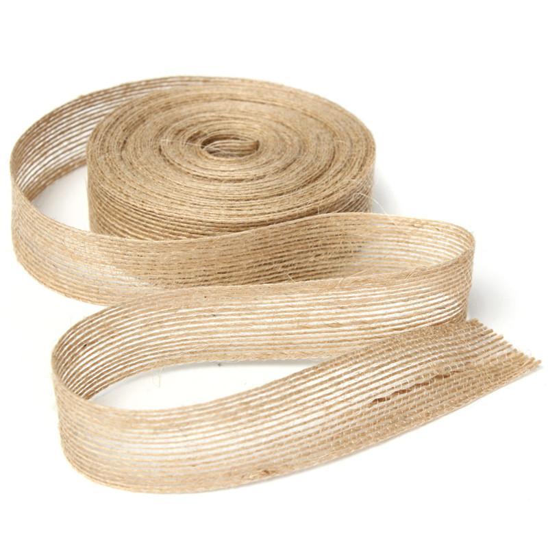 2019 Overvalue 2 5cm X 10m Retro Natural Jute Burlap Ribbon Fabric