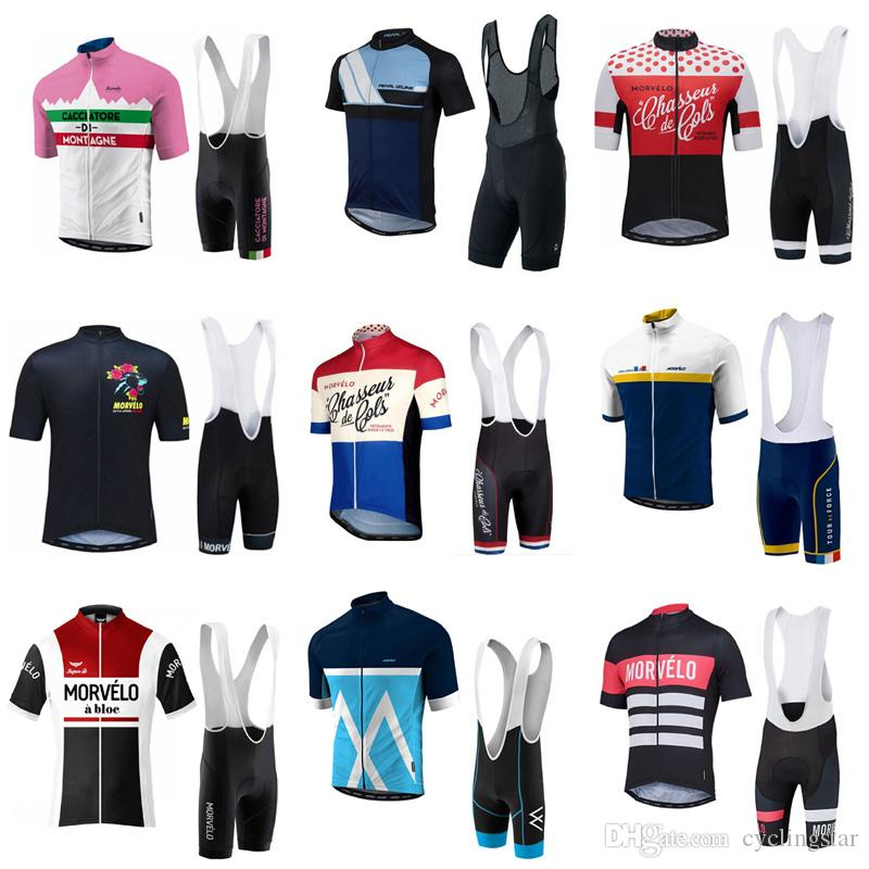 2018 Morvelo Cycling Jersey Short Sleeve Bicycle Clothes Kit With 3D Gel  Padded Shorts Quick Dry Mtb Bike Racing Clothing Sportswear C2105 Road  Bicycle ... 81f92dbab