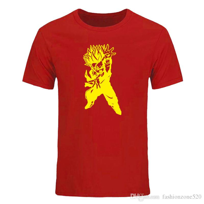 Super Saiyan New Fashion Son Goku Men T Shirt O-Neck Casual Famous Tops The Dragon Ball Z Funny Tees DIY-0852D