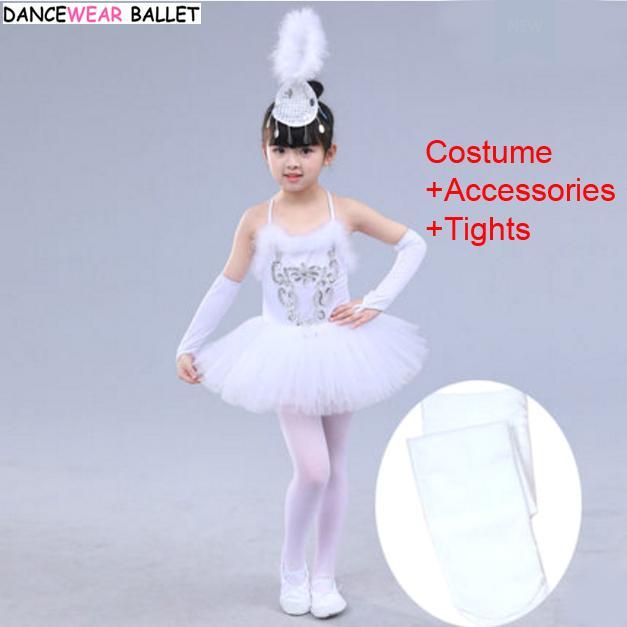 c5f9b189856d2 Satın Al Kızlar Bale Elbise Çocuk Beyaz Kuğu Gölü Dans Kostüm Çocuk Kız Bale  Tutu Elbise Jimnastik Leotard Giyim Kostüm + Tayt, $24.59 | DHgate.Com'da
