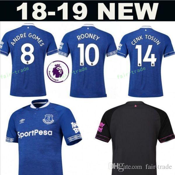 2018 2019 FC Everton Jersey Hombre Fútbol 3 BAÑOS 6 JAGIELKA 11 WALCOTT 14  CENK TOSUN GUEYE Equipo De Fútbol Kits Premier League Patch Por Fair Trade 519858a31