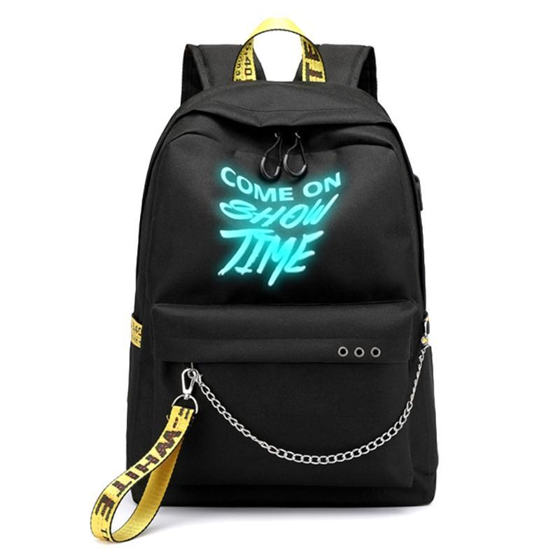 Teenager Unisex School Bag Luminous Shoulder Bag Letters Print Waterproof  Laptop Backpack With Charger USB Backpacks Cheap Backpacks Teenager Unisex  School ... 187faf92fd