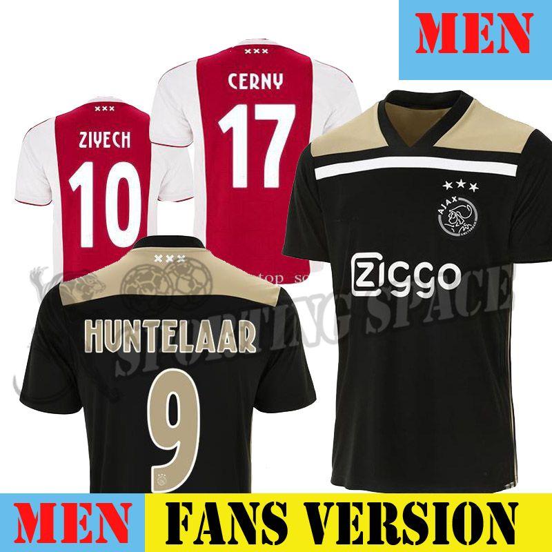 665bcae29 2019 2019 Ajax Away Soccer Jersey 18 19 Ajax Away Balck Soccer Shirt 2018  DOLBERG HUNTELAAR ZIYECH NOURI Football Uniform Sales From Davidhu2017