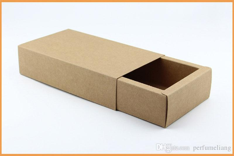 14*7*3cm Black Beige Drawer Packing Box Gift Bow Tie Packaging Kraft Paper Carft Cardboard Boxes ZA6404
