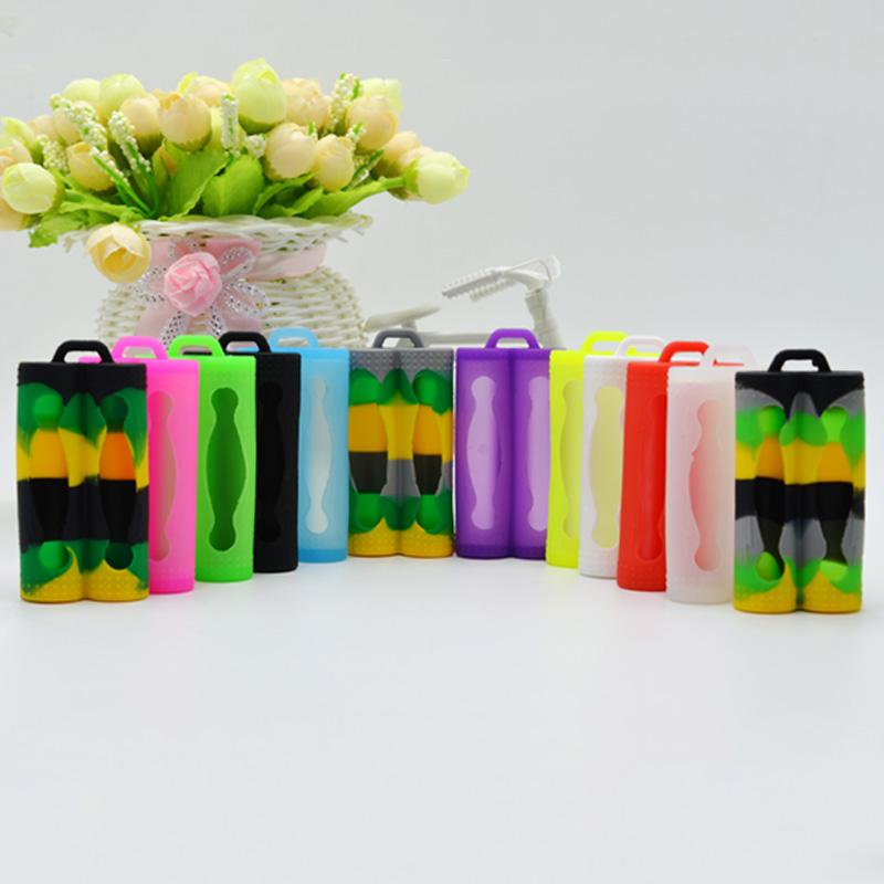 Protective Silicone Skin Cover Protect Safe Protection Colorful Rubber Cases for Battery Sony vtc3 vtc4 vtc5 Dual Double 18650 batteries DHL