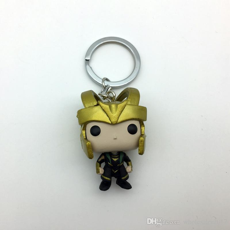 Thor 3 Theme Keychain Toys Action Figure Collectible Model Vinyl Dolls Keyring