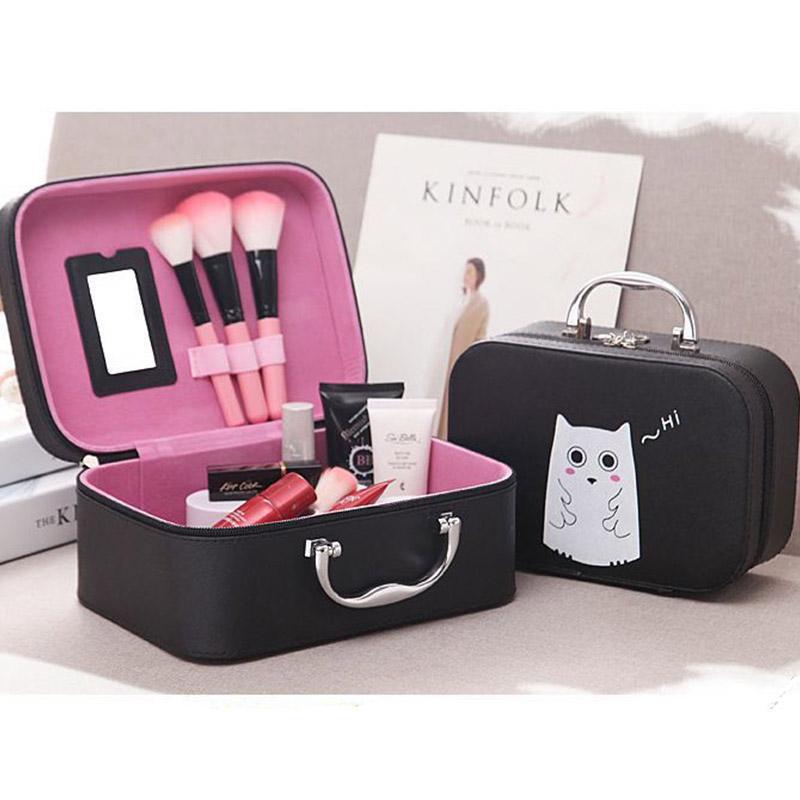 PÁSSAROS VOANDO Caixa de Sacos de Cosméticos Bolsa de Maquiagem Mulheres Casos de Cosméticos Bonito Caso de Beleza Bolsa de Viagem Bolsa de Vitrine de Jóias Titular da Moda