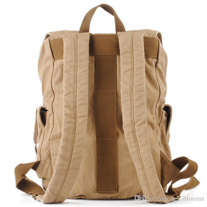 Zaino di tela Vintage Canvas Leather Zaino Escursionismo Daypacks Satchel Bookbag Alpinismo Borsa Uomo Donna Spedizione Gratuita G166S