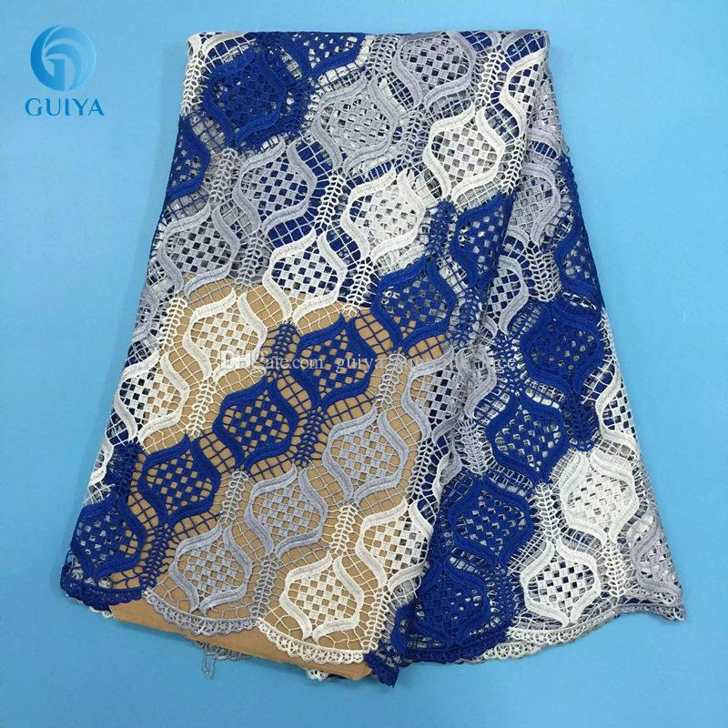 2018 New Design African Lace Fabric Guipure Lace Multi Color Cord Lace For Wedding Dress GYMC0028