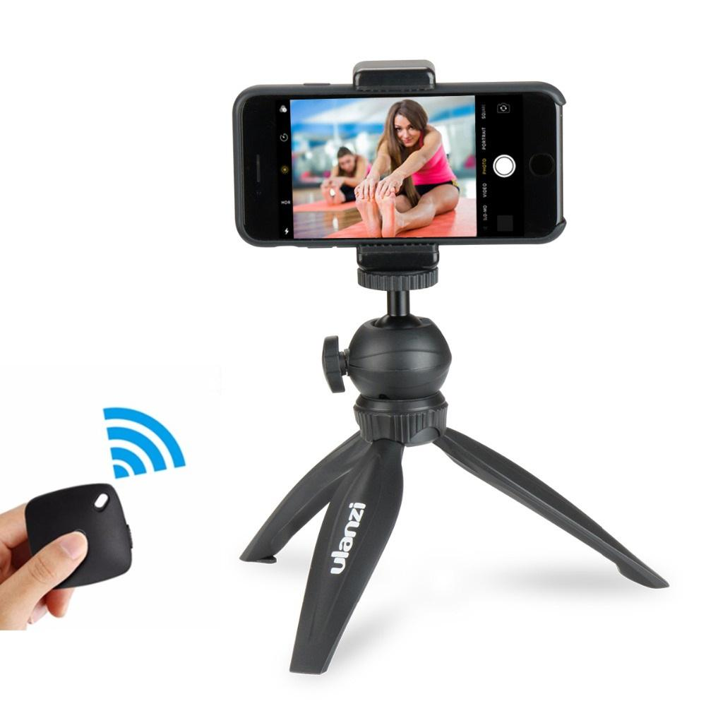 wholesale Smartphone Tripod with Phone Tripod Mount Clamp Holder for iPhone X 8 7plus Huawei Vlogging Youtube Live Streaming