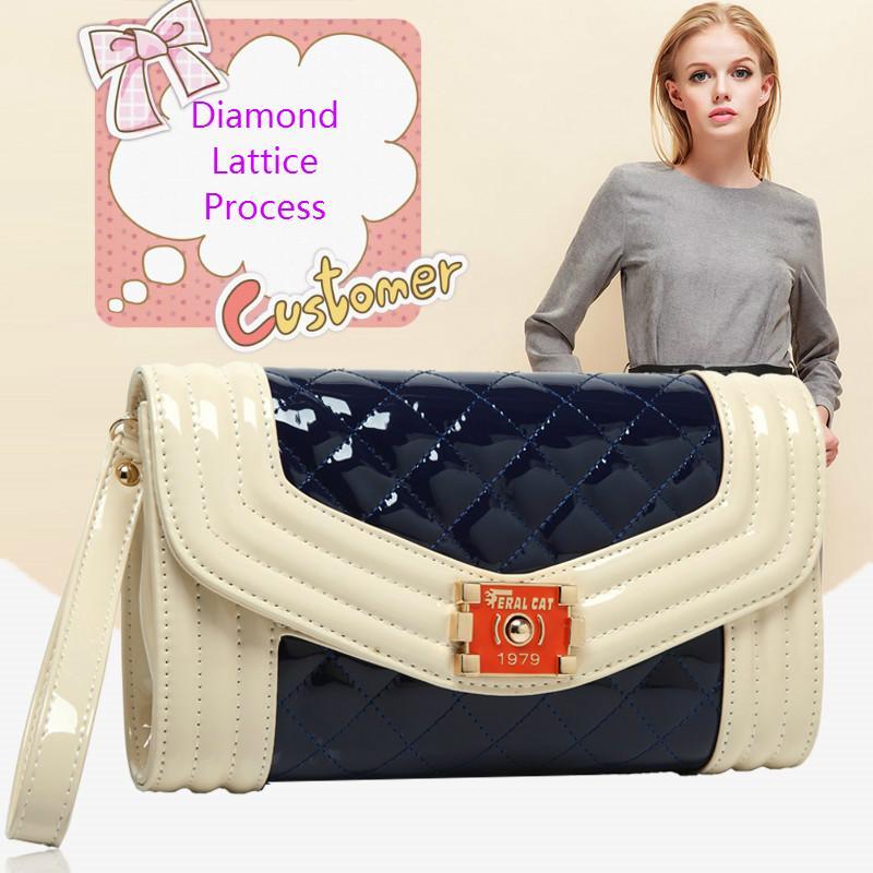 b447db5637 Made In China Korean PU Leather Ladies Shoulder Messenger Bag Lingge Chain  Small Square Bag Fashion Travel Pillow Shaped Tote Waterproof Bag Cheap  Purses ...