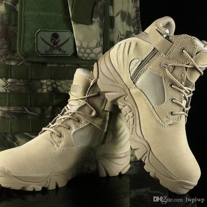 fbb74467ae0df Desert Tactical Boots Unisex High To Help Low Hiking Shoes ...