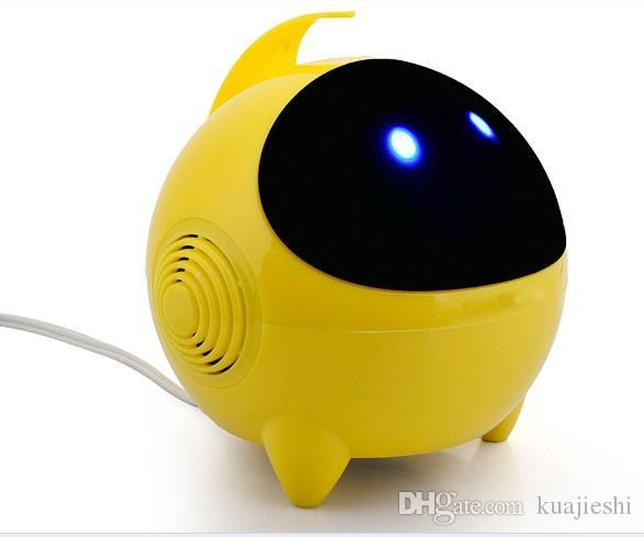 روبوت صغير المتكلم ، رائد الفضاء الكمبيوتر المحمول الصوت USB2.0 الكرتون مصغرة مصغرة الصوت بالجملة سماعات الكمبيوتر