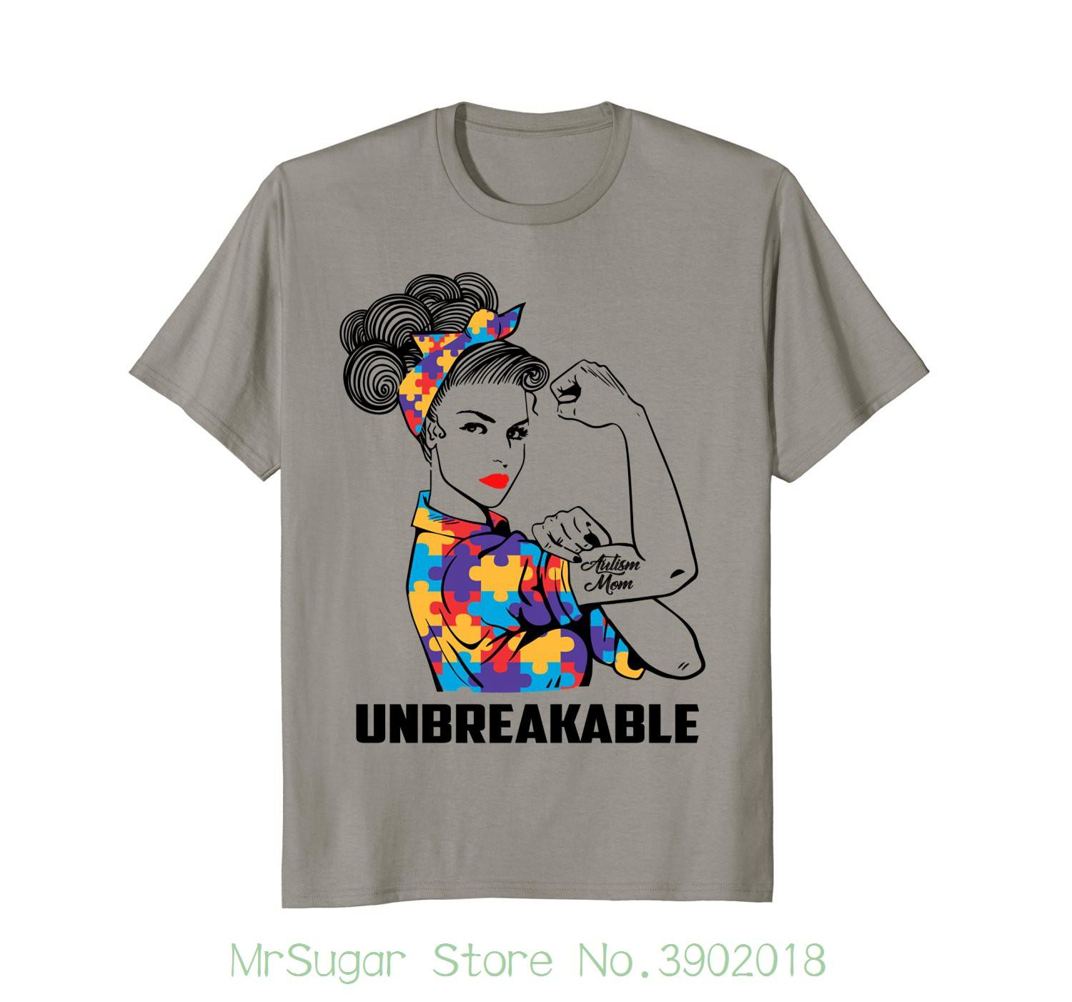 89346b3e08e Autism Mom Unbreakable T Shirt Autism Awareness Shirt High Quality Casual  Printing Tee Tshirts Funny T Shirts From Mrsugarstore