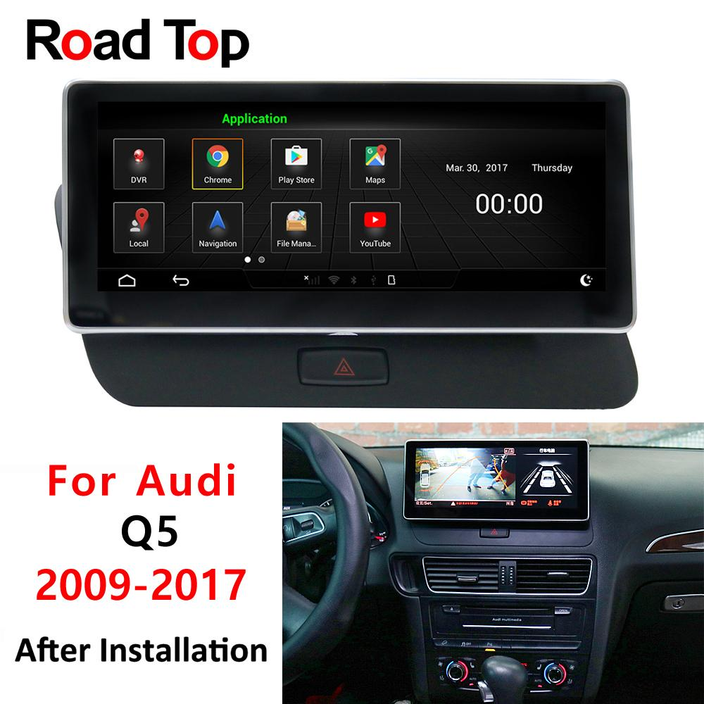 10 25 Android 5 Vehicle display for Audi Q5 2009 to 2017 car touch screen  GPS Navigation radio dash multimedia player compatible with MMI3G