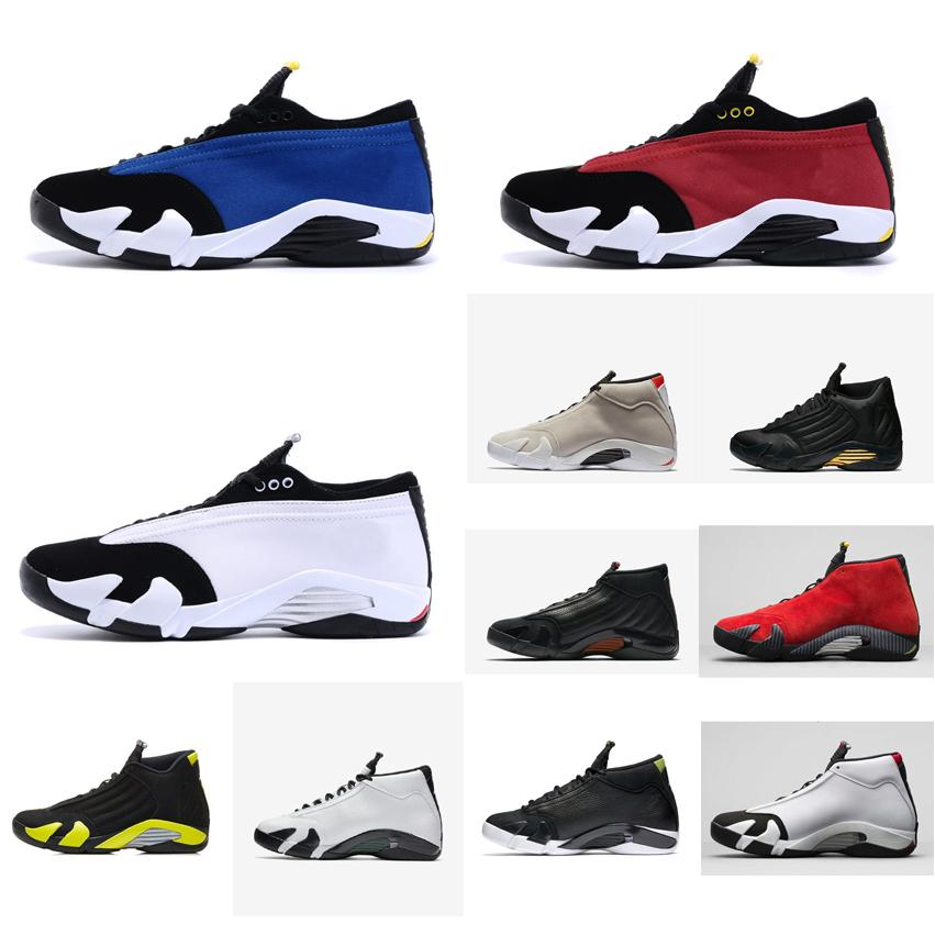 newest a2244 bbd07 2019 Cheap Men Retro 14s Low Basketball Shoes For Sale J14 Laney Blue Black  Toe White Red Bred AJ14 Jumpman 14 Casual Sneakers Tennis With Box From ...