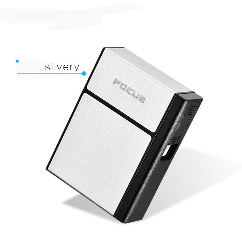 FOCUS Cigarette Case Box Lighter With Flameless Removable Personality Creative USB Lighter Torch Lighter Cigarette Holder Case