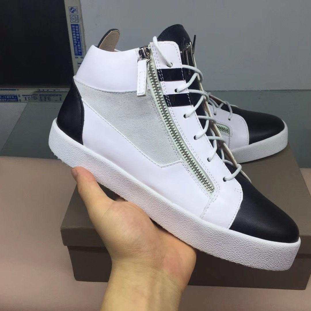 5b424dfc1a3b New 2018 Men Women Luxury Brand High Top Spikes Fashion Casual Zipper Shoes  Red Bottom Sneakers Outdoor Walking Flat Shoes Naked Boots 879 Shoe Boots  ...