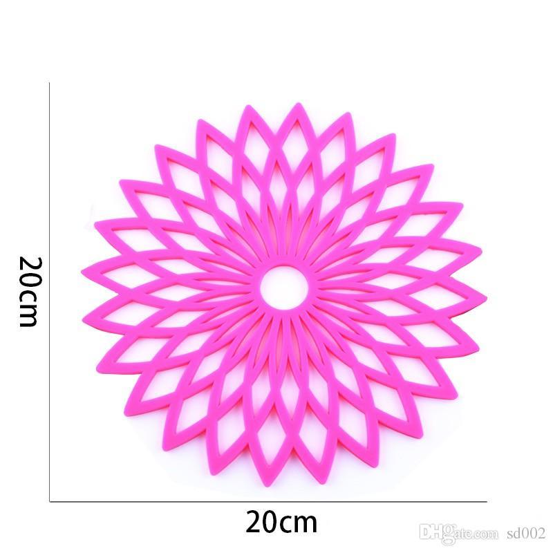 Platinum Silicone Table Pad De Haute Qualité Gardenia Fleur Chaleur De Protection Mats De Protection De L'environnement Unique Style Belle Santé 4 15zc X
