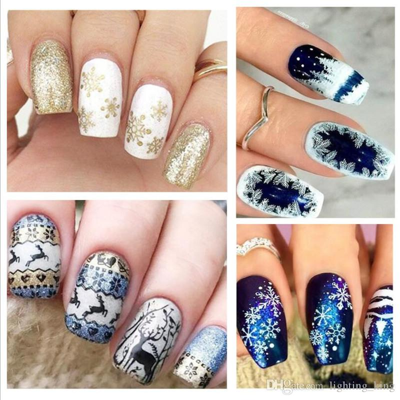 New Arrive 10 Types Nail Art Stencils Stamping Template Polish Print