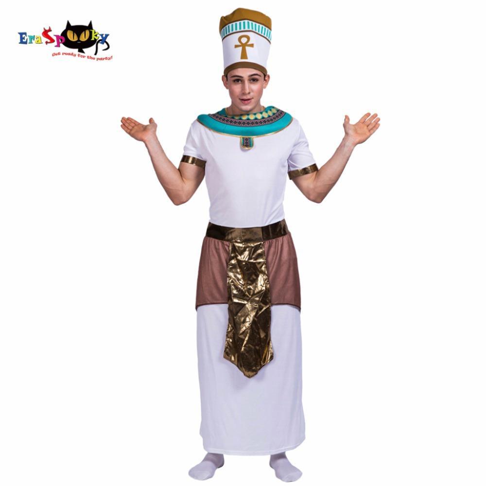king of egypt pharaoh cosplay men halloween costume christmas party