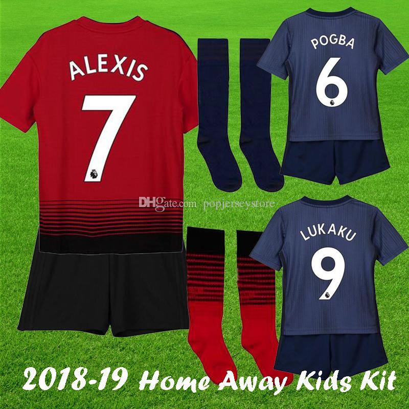 0ccce58ee 2018 19 ALEXIS LUKAKAU VALENCIA United Kids Kit Soccer Jersey Home ...