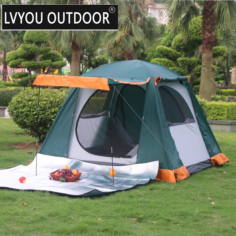 LVYOU OUTDOOR 3 4 Person Waterproof Four Season C&ing Tent  Easy Hang And Setup Hiking Tent Outside Tent Mountain Tents Lightweight Tent Instant Tents ... & LVYOU OUTDOOR 3 4 Person Waterproof Four Season Camping Tent  Easy ...