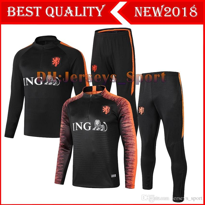 Training From 2019 Kit SNEIJDER Tracksuit 2018 Top Suit Quality ROBBEN MEMPHIS Pant Track PERSIE Soccer 2019 Tracksuit Netherlands Long V Football nqpwYR7wE