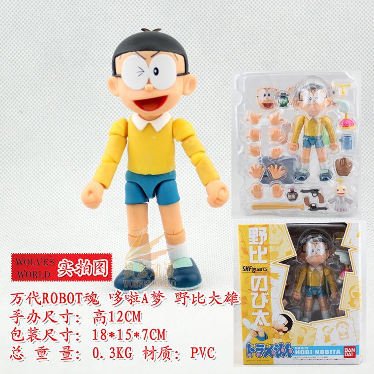 Compre Doraemon Nobi Robot Nobita Anime Action Figure Collection ...