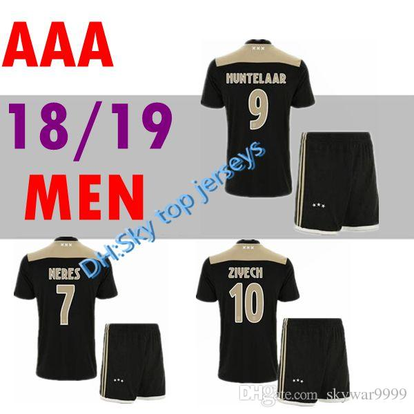 new product 5fd4e c3862 Thai quality 2018 2019 Ajax FC home away adult kit soccer jersey 18 19 away  KLAASSEN FISCHEA BAZOER MILIK AJAX football shirts