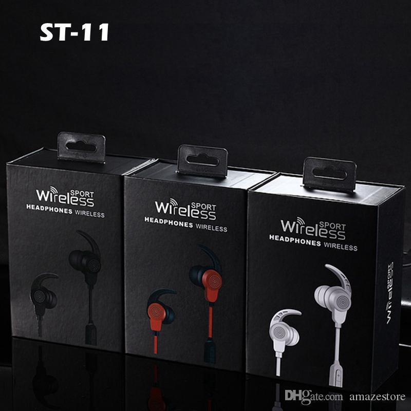 Cordless Con Auricolare ST 11 In Ear Sport Correre Auricolare Bluetooth  Senza Fili Auricolare Cuffie Auricolari Stereo Auricolari Con Microfono  Iphone ... 7f055c7591f7