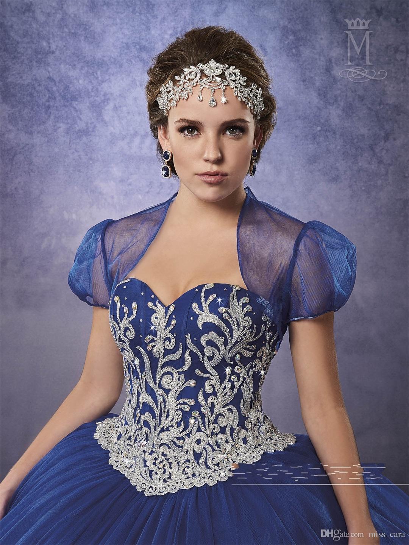 Vintage Borgonha Doce 16 Vestidos Quinceanera com Jaqueta 2018 Lace Up Voltar Apliques Azul Royal Prom Dress Custom Made