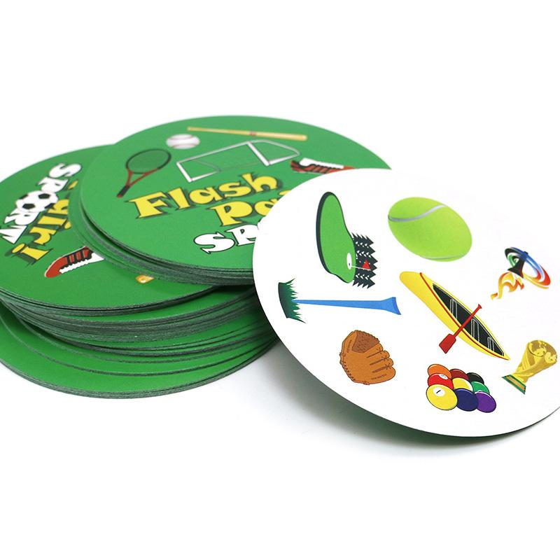 romancard flash pair sports board game for spot kids family fun it has metal box card game