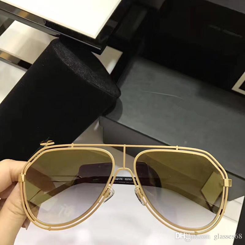 Mükemmel Kalite Moda Marka tasarım Güneş Gözlüğü Naylon Güneş Gözlükleri Mens Tam Çerçeve UV400 Lensler Ile Kılıfları ve kutu