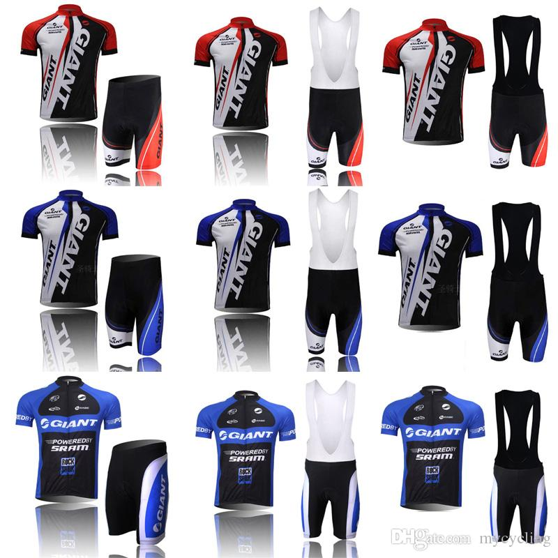 High Quality GIANT Cycling Jersey Set Breathable Quick Dry Short Sleeve  Mountain Bike Clothing Road Bicycle Sportswear Mtb Sportswear C2808 GIANT  Cycling ... 5a7978c2f