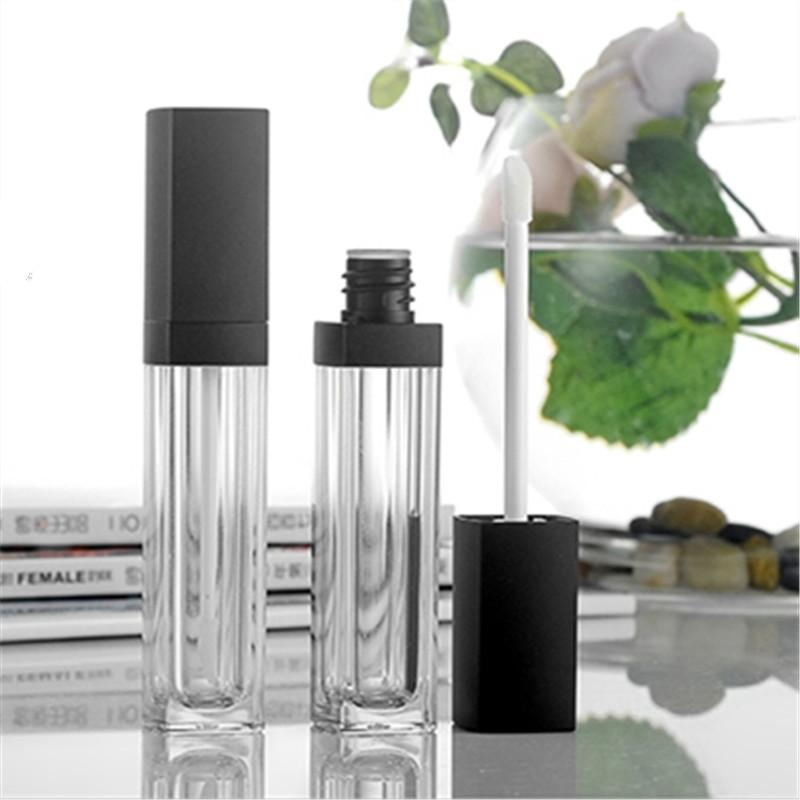 Free Shipping New Style 10 ml Empty Lip Gloss Square Containers Lip Balm Lipstick Lip oil Tubes Pick Bottles Wholesale Retail