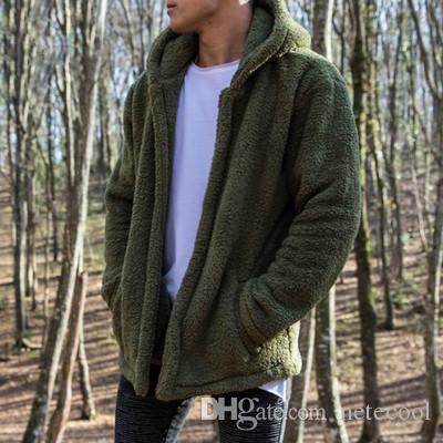 62f592766b6 2019 High Quality Bomber Cardigan Jacket Men 2018 New Brand Winter Thick  Warm Fleece Teddy Coat For Mens SportWear Tracksuit Male Fleece Hoodies  From ...