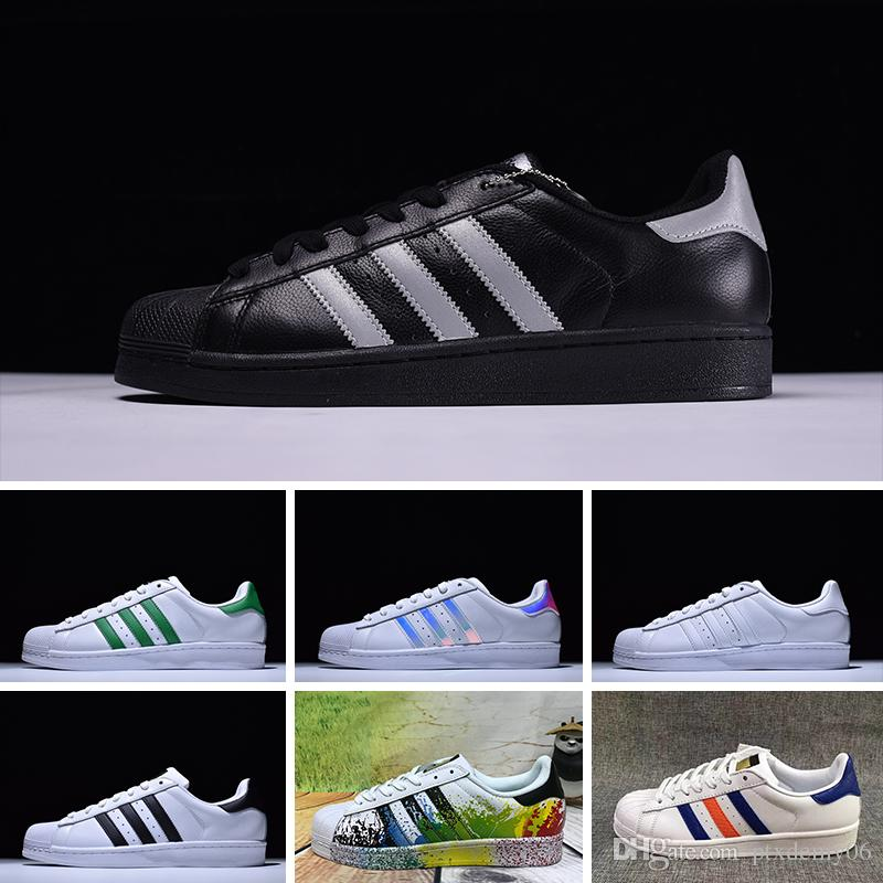 finest selection a2565 f46b9 Großhandel Adidas Superstar 80s Original White Hologramm Schillernden Junior  Gold Superstars Turnschuhe Originals Super Star Frauen Männer Sport  Laufschuhe ...