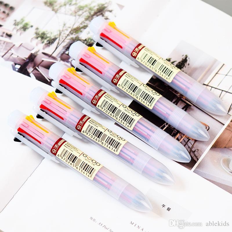 Compre 8 Cor Mao Colorida Conta Caneta Esferografica Escrita Desenho