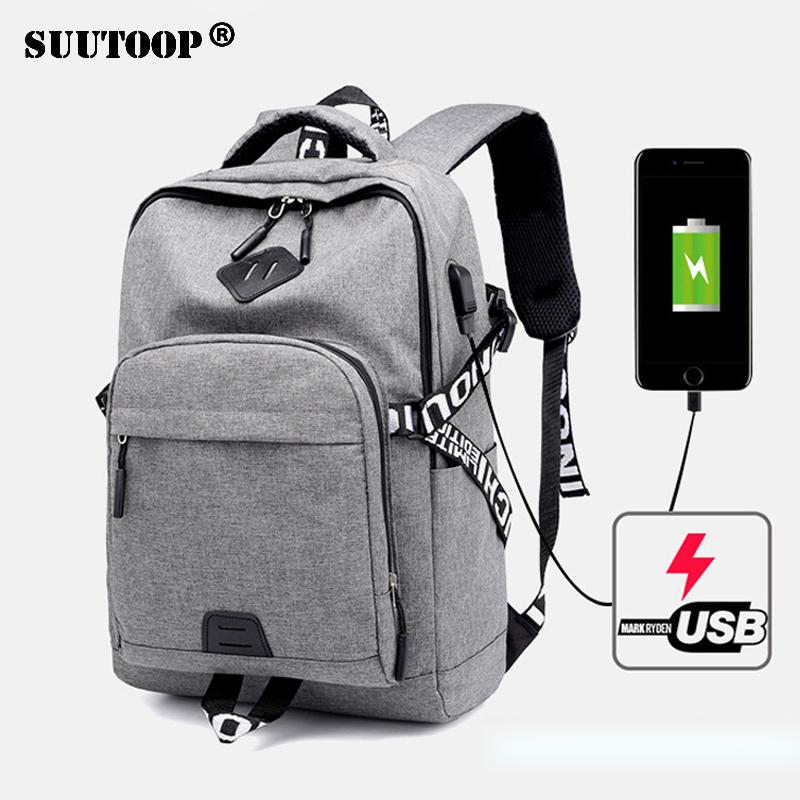 b3f5ef9c74de New Men Women Usb Charge Laptop Backpack Teenager Fashion Multifunctional  Oxford Casual Backpack School Travel Bags Male Bolsa Backpacks For Men  Jansport ...