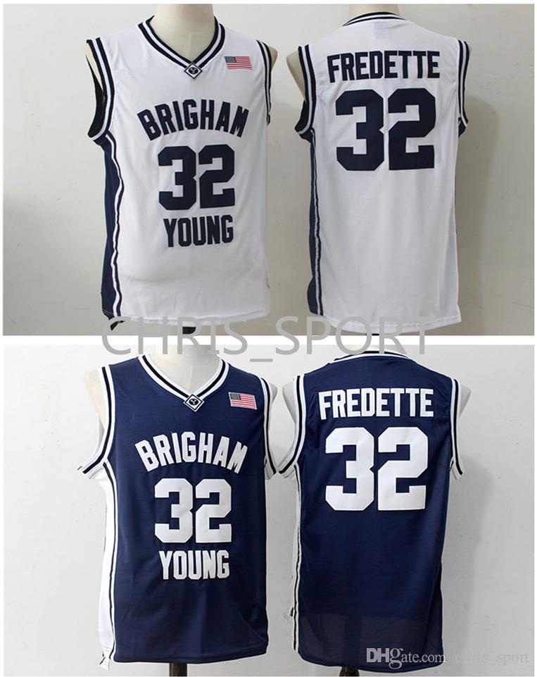 c5336bad8 Brigham Young College Basketball Jersey  32 Jimmer Fredette Blue White Basketball  Jerseys Basketball Jersey Jimmer Fredette Arizona State Online with ...