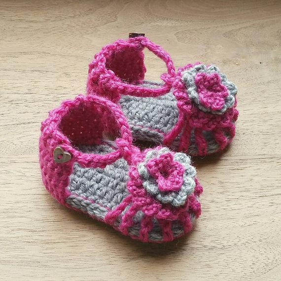 Crochet Baby Sandals Baby Shower Gift Newborn Photography Prop