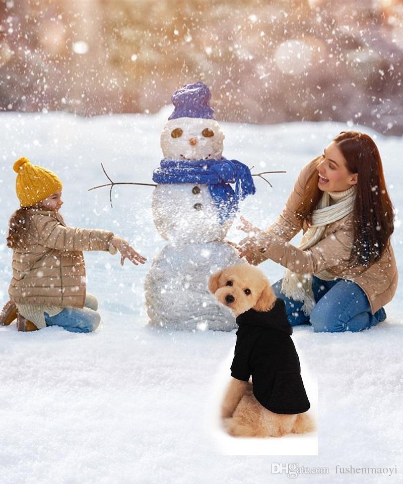 작은 강아지 옷 개 후드 Hkim 부드러운 코튼 애완 동물 푸들 옷 소매 패션 스웨터 스웨터 강아지 스웨터