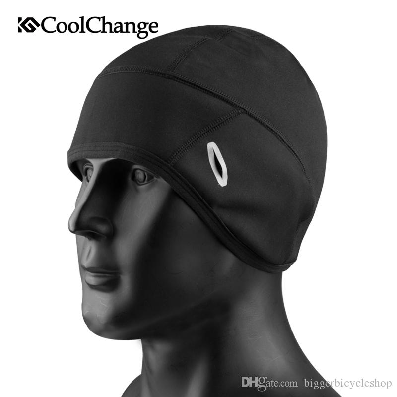 CoolChange Cycling Cap Winter Warm Outdoor Sports Bicycle Cap Windproof  Thermal Fleece Cap Men Women Running Skiing Bike Caps Online with   10.28 Piece on ... e99a26965a59