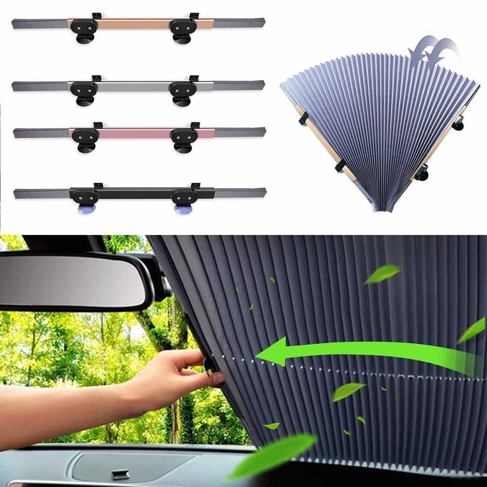 New Retractable Car Windshield Sun Shade Visor Folding Curtain Auto Front  Window Block Cover CSL2018 Windshield Sunshades Cheap Windshield Sunshades  New ... 6bba2253d3c