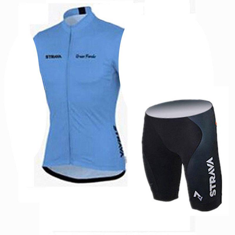 STRAVA team Cyclisme manches courtes maillot bib ensembles de shorts Outdoor cyclisme ensemble de vélo cool et confortable été respirant c2413