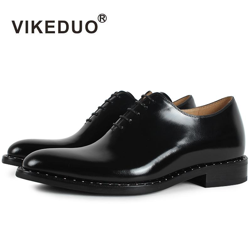97c65380c Vikeduo 2018 Flat Handmade Black Designer Lace Up Luxury Business Work Dance  Male Shoe Genuine Leather Mens Oxford Dress Shoes Driving Shoes Cheap  Trainers ...