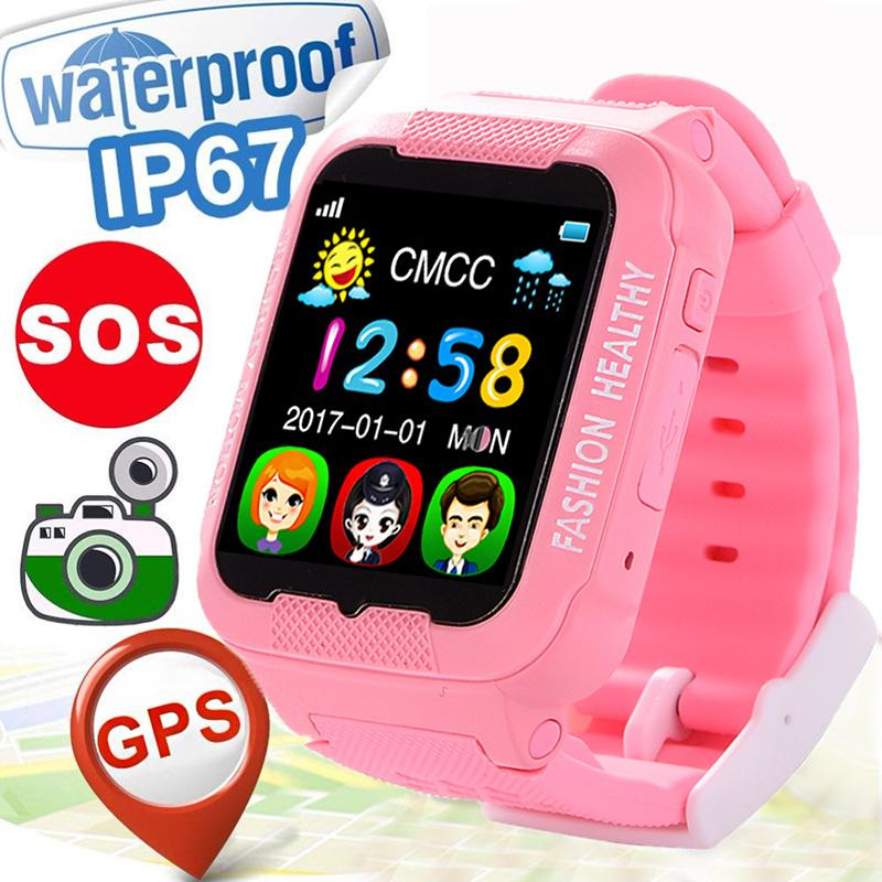 New GPS+LBS Precise Positioning Safety Anti Lost Remote Monitor SOS Voice  Chat Call Smart Watch Smartwatch Kids Girl Child Gifts