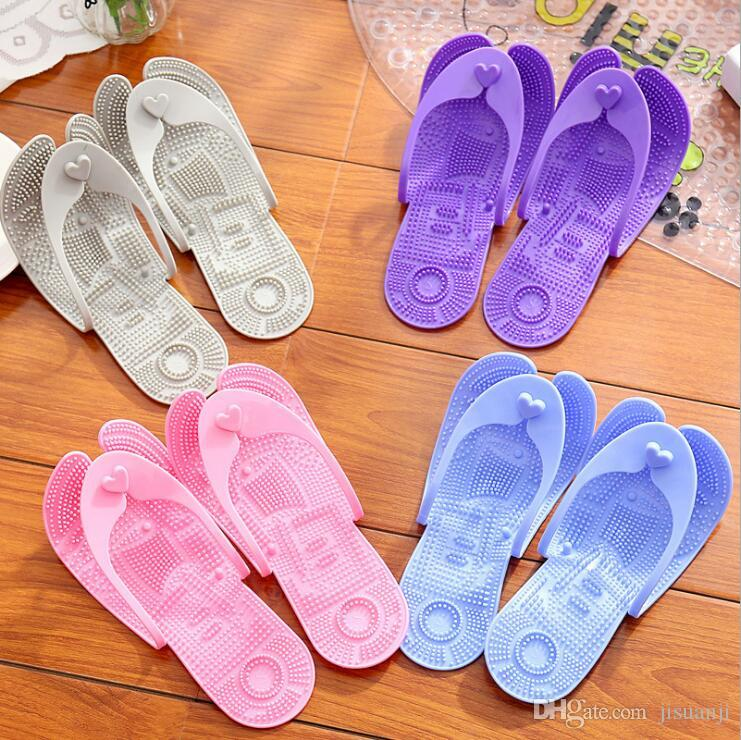 dfe10342a80e0 Portable Plastic Flip Flops Bathroom Anti Slip Clip Toe Folding Sandals  Ladies Home Slippers Wholesale PVC Shower Slippers Wedges Shoes Leather  Boots From ...