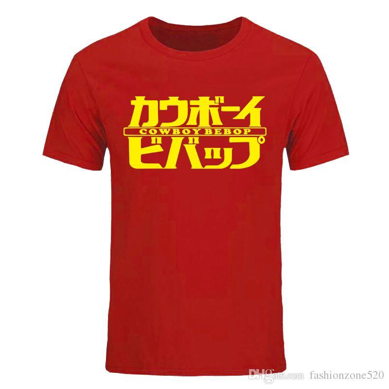 Novo Verão Moda Cowboy Bebop impresso T Shirts Para Homem Personalizado de Algodão de Manga Curta T Camisas Tops T-shirt DIY-0128D